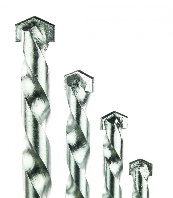 Masonry drillbits can be used to bore holes into concrete walls.