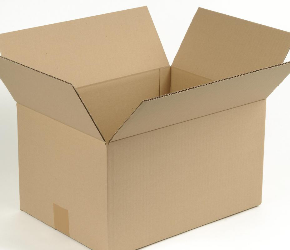 Cardboard boxes are often used in packaging.