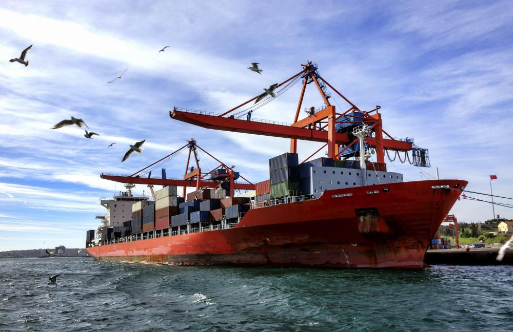 Container ships are commercial cargo vessels that can be loaded with intermodal containers.
