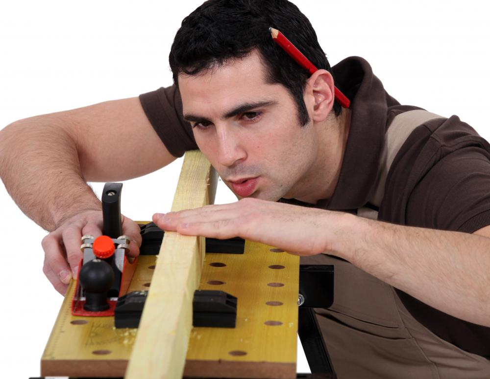Kitchen cabinet installation requires the use of a number of different carpentry tools.