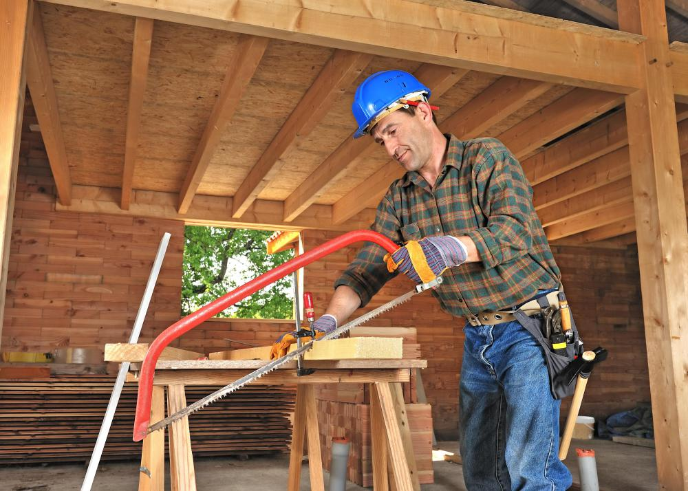 A carpenter may build and repair structural woodwork.