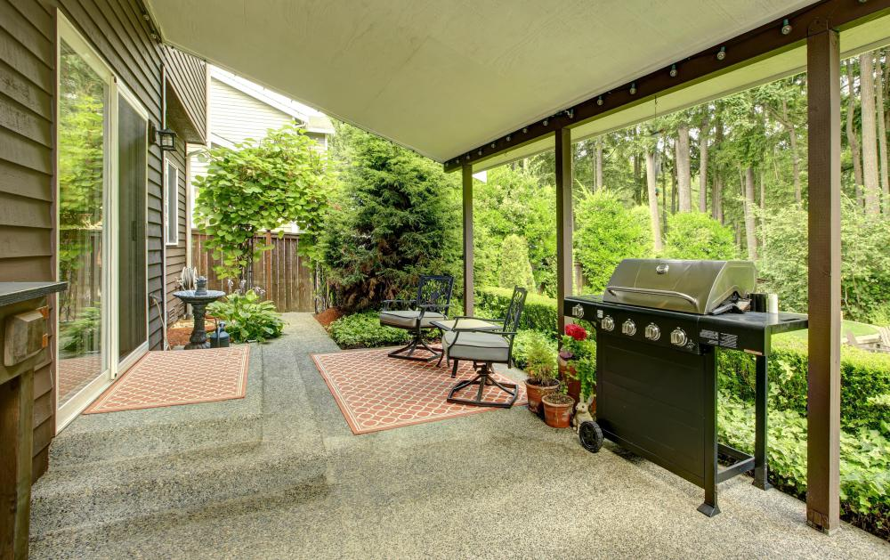 A semi-enclosed porch or patio may be a good option for use in locations that are warm and damp.