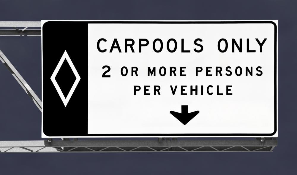 Carpooling can help reduce vehicle emissions.