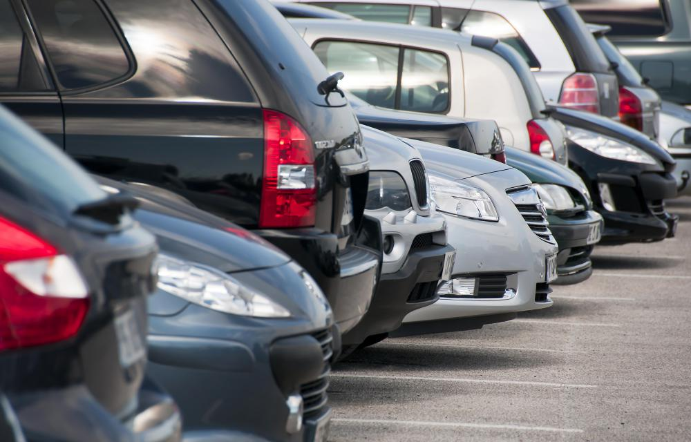 Electronic surveillance is used in most commercial parking lots.