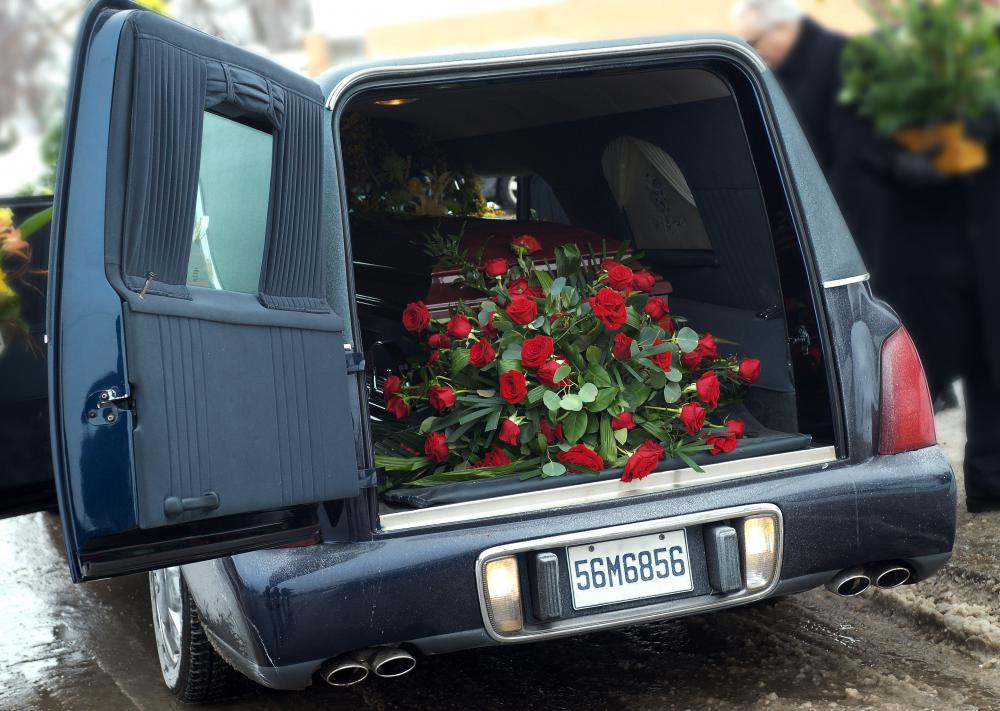 Burial expenses typically include the rental of a hearse.