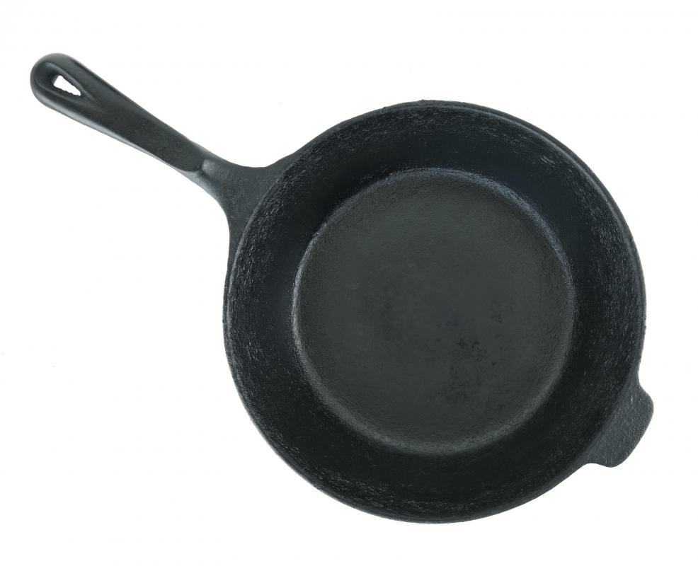 Cast iron skillets can cook and brown food evenly.