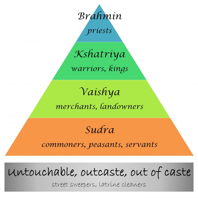 Within a caste system, people are rigidly expected to marry and interact with people of the same social class.
