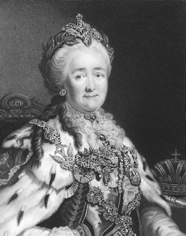 Catherine the Great of Russia (1729 - 1796).