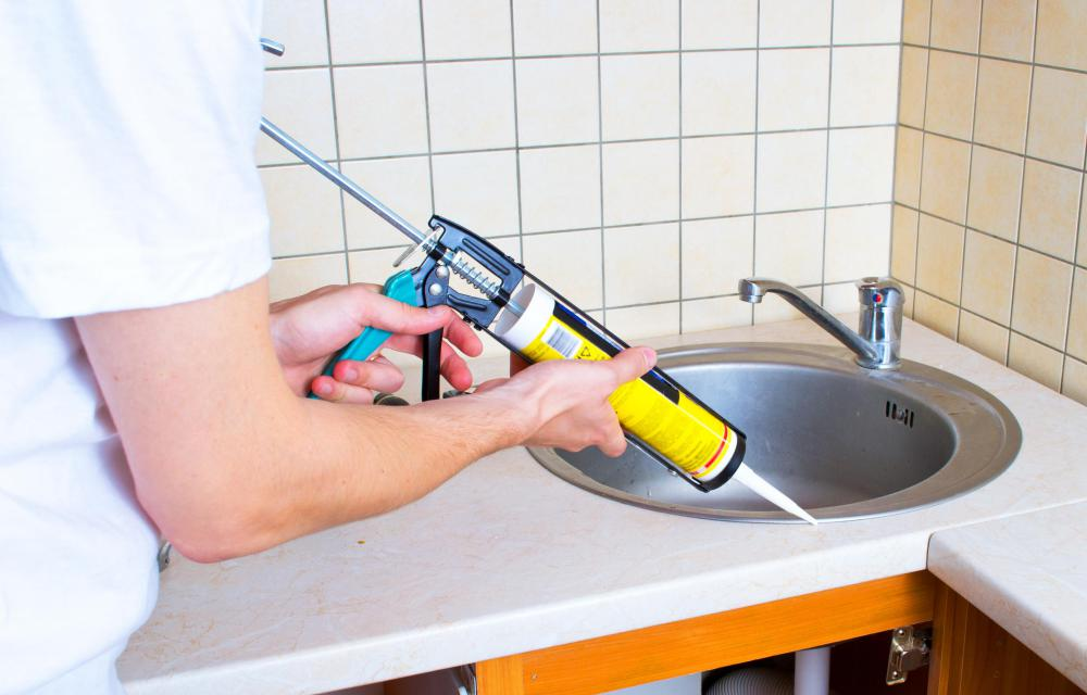 A caulking gun can be used to apply elastomeric sealant.