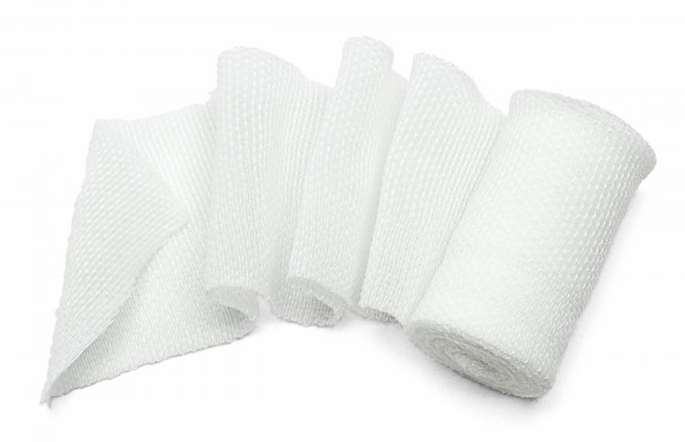 Cotton gauze is commonly used in the medical field to dress open wounds.