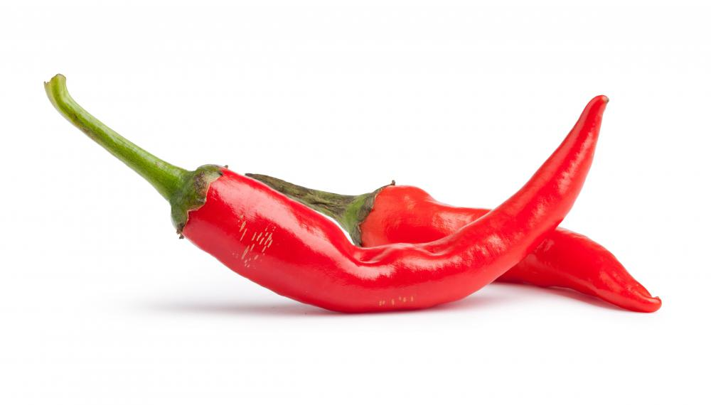 Cayenne peppers are used in hot and spicy dishes.