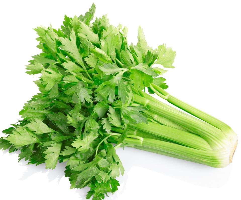 Celery is part of the vegetable base in a shrimp bisque.