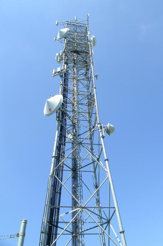 Cell phone towers are employed in the triangulation method of tracking cell phones.
