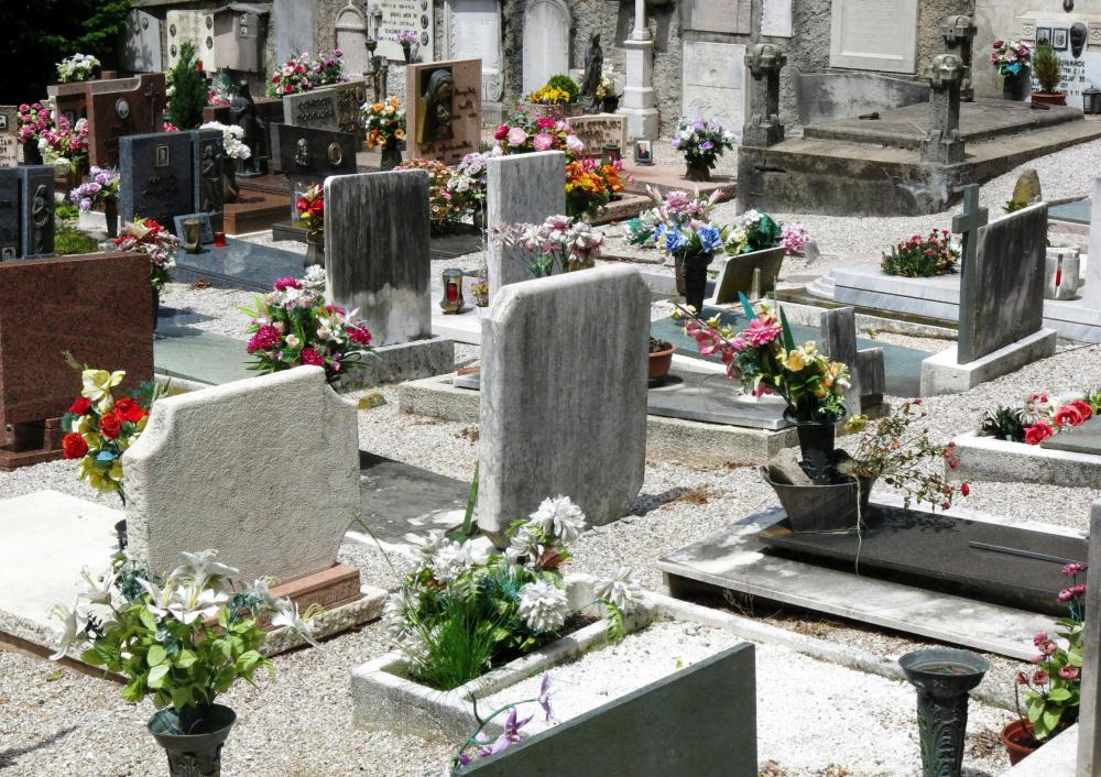 Property caretakers may oversee the grounds at a cemetery.