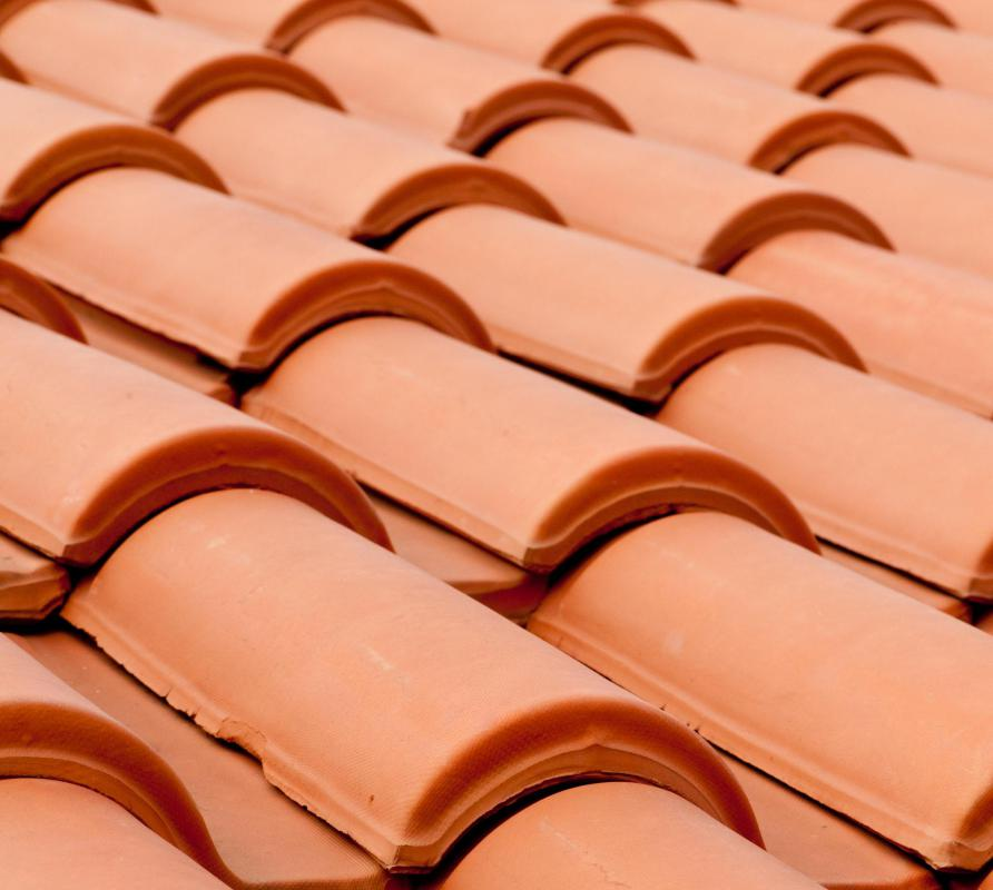 Ceramic porch roof tiles are popular in the Mediterranean.