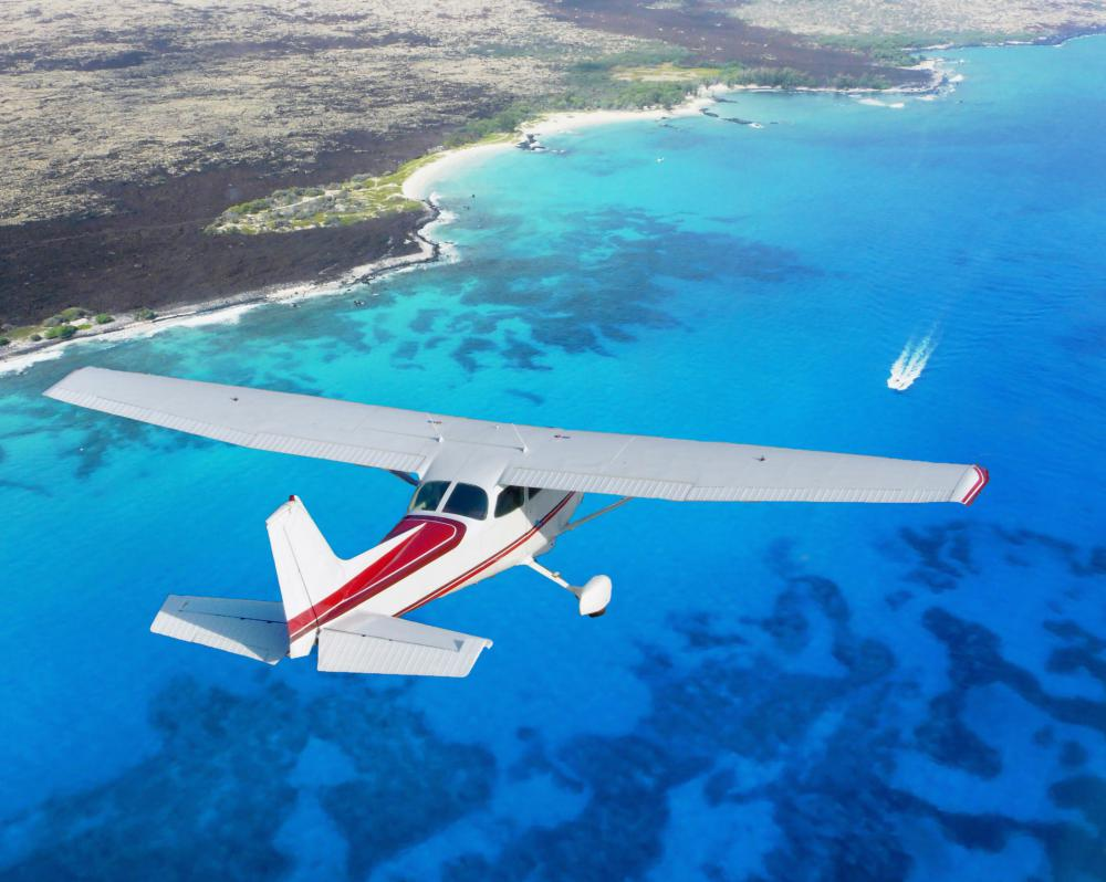 A single-engine aircraft can be a good choice for a small party taking a short trip.