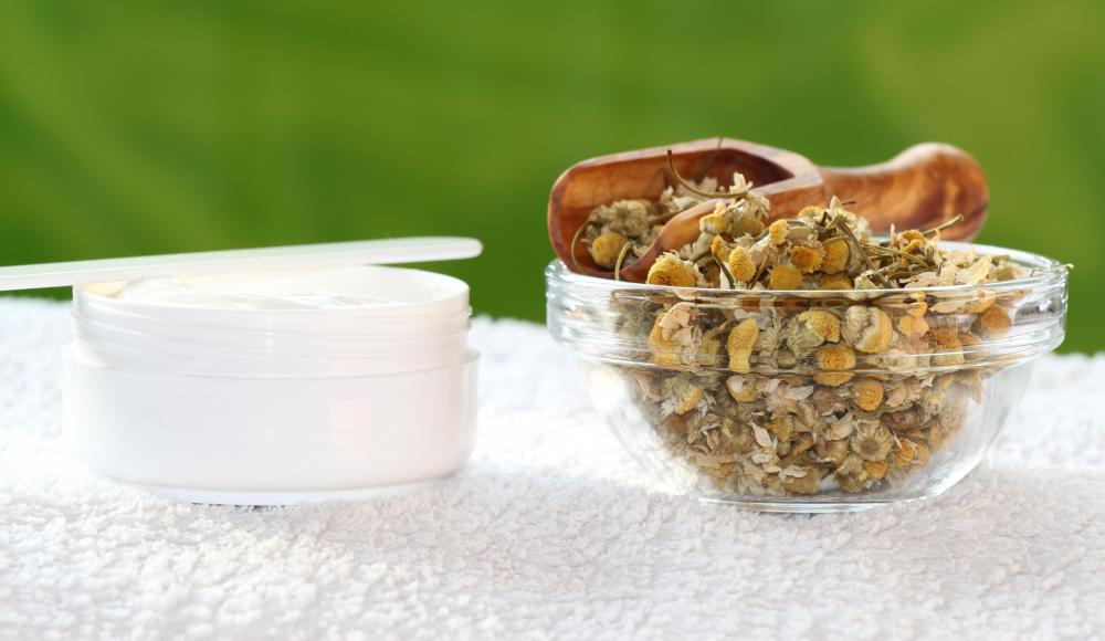 Products with chamomile can be very soothing to sensitive skin.