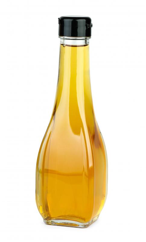 White wine vinegar, which can be used to make a stir fry marinade.