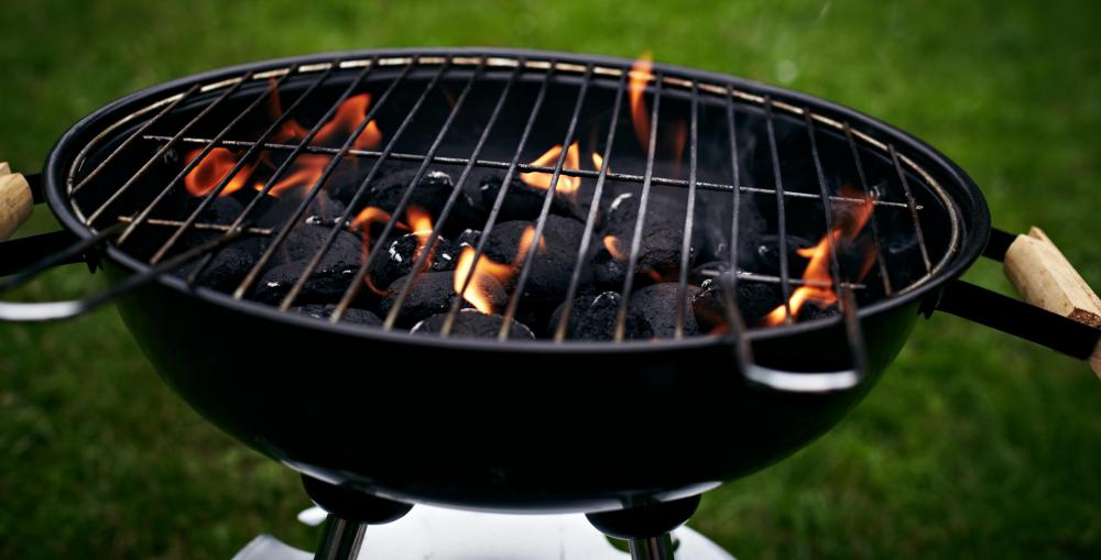 A charcoal grill.