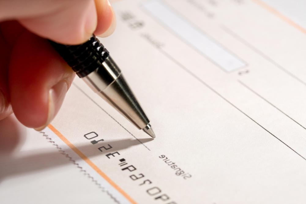 A check is considered a blank check until it has a signature and an amount written on it.