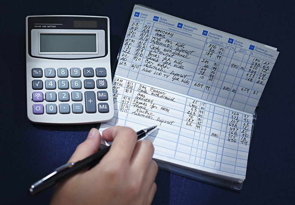 large checkbook register