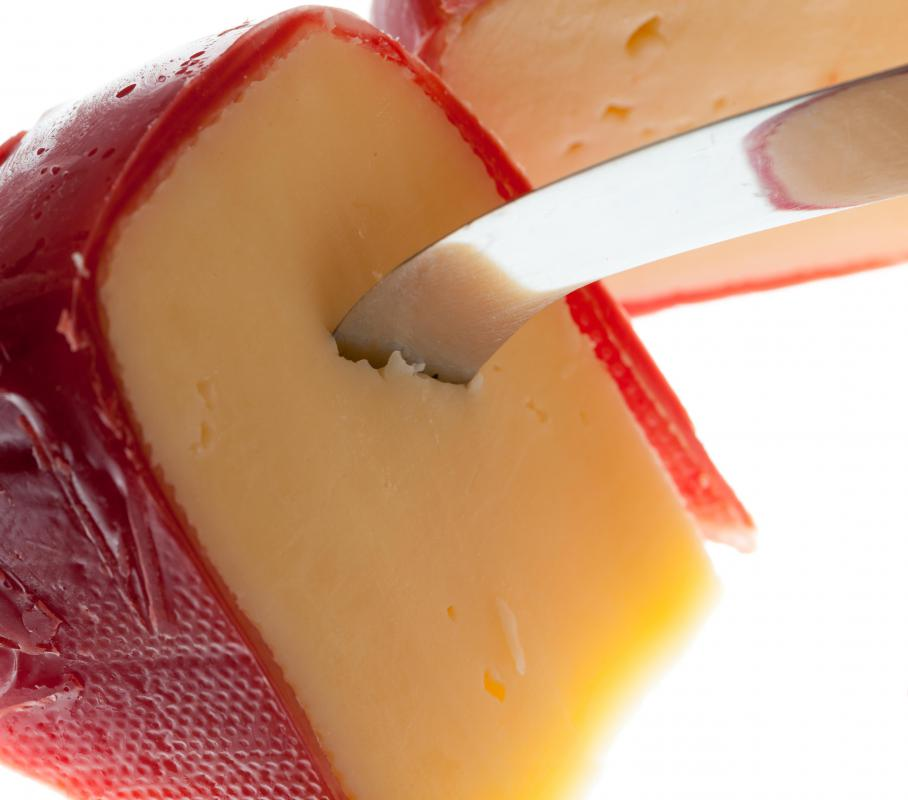 Edam cheese has a sharper taste than Gouda, another cheese from the Netherlands.