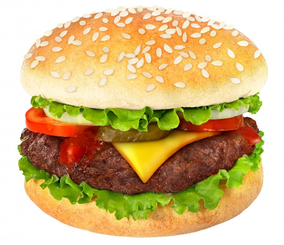 An improperly cooked cheeseburger could give a diner food poisoning and acute gastroenteritis.