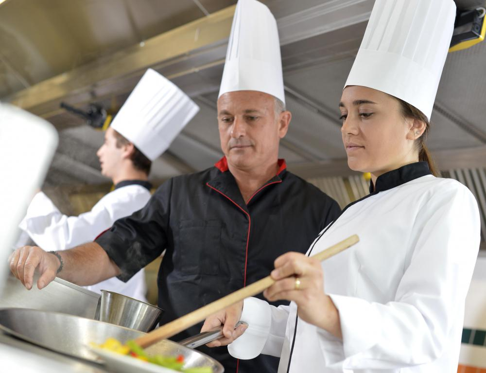 A chef de cuisine oversees all cooking processes in a restaurant's kitchen and creates special menus.