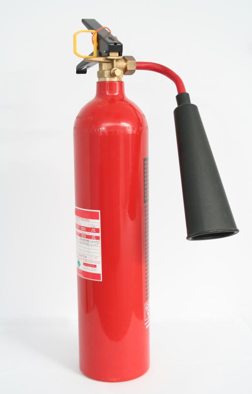 Rental property laws state that every unit must have at least one fire extinguisher.