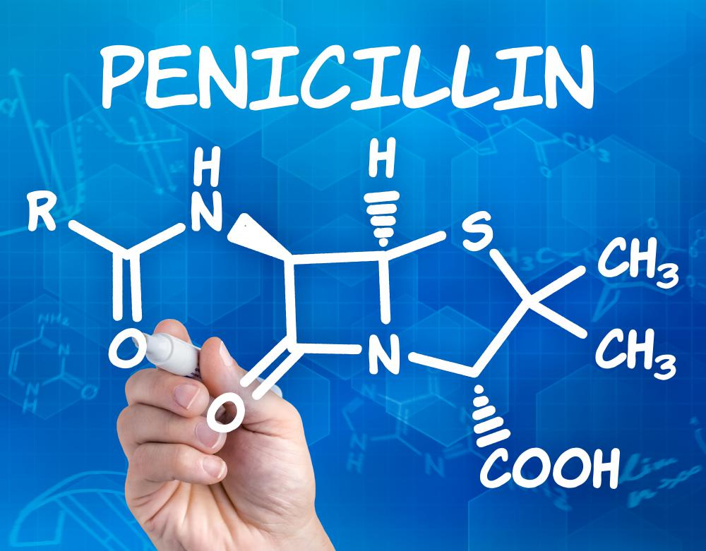 Ampicillin is an antibiotic in the penicillin family.