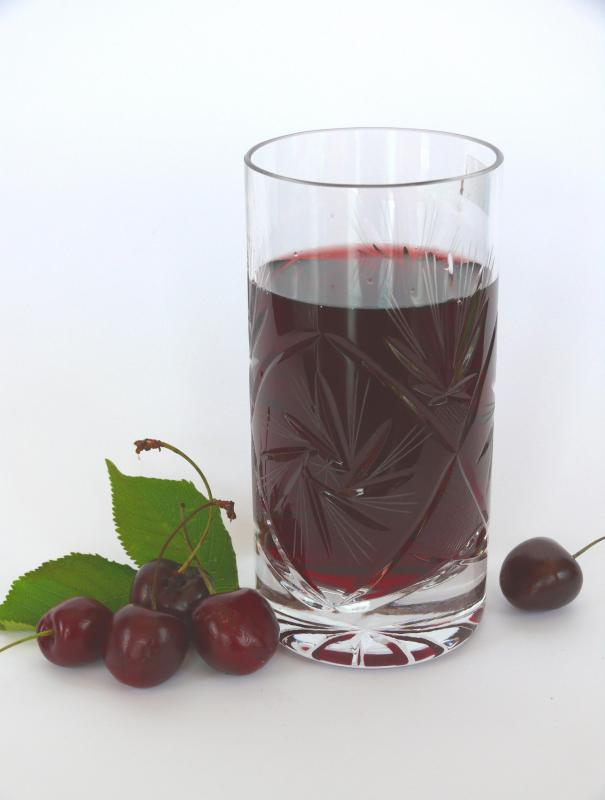 Cherry juice has a variety of health benefits.