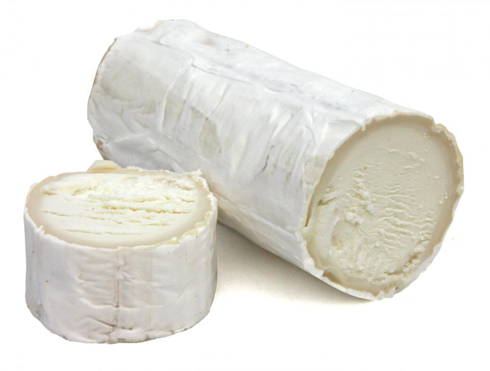 Goat cheese, which is often used to top vegetarian pizza.