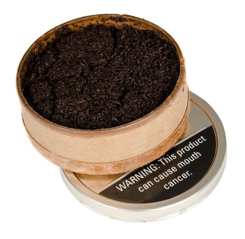 Chewing tobacco, which can cause throat cancer.