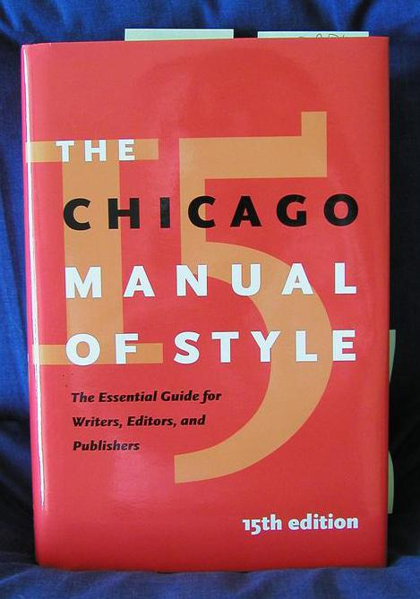 The Chicago Manual of Style is followed for term papers in the fine arts and humanities.