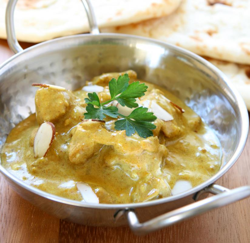 Chicken is often used in Indian curries.