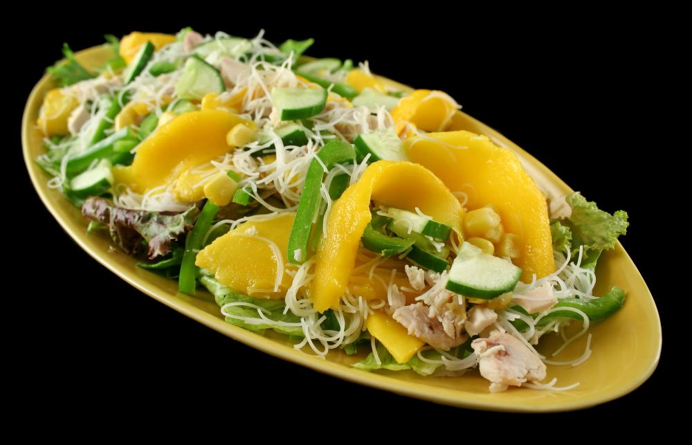 Chicken mango salad is an interesting choice for a mango salad.