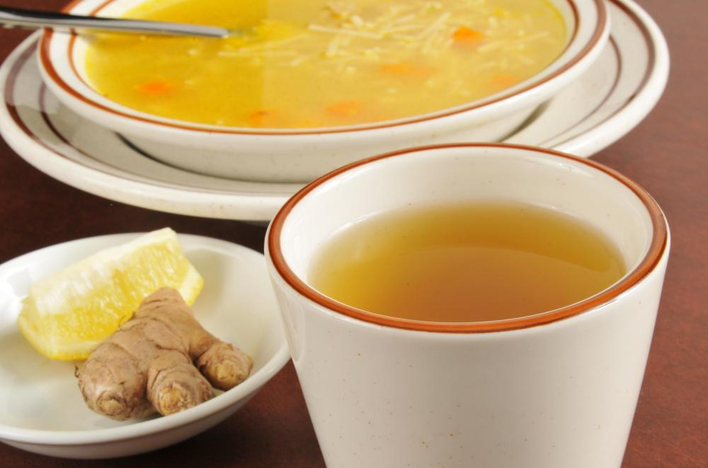 Chicken soup can ease the common cold.