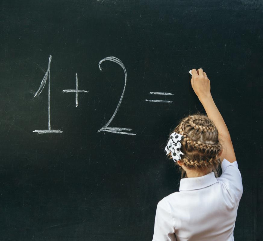 Parochial schools typically teach the same arithmetic lessons taught in public schools.
