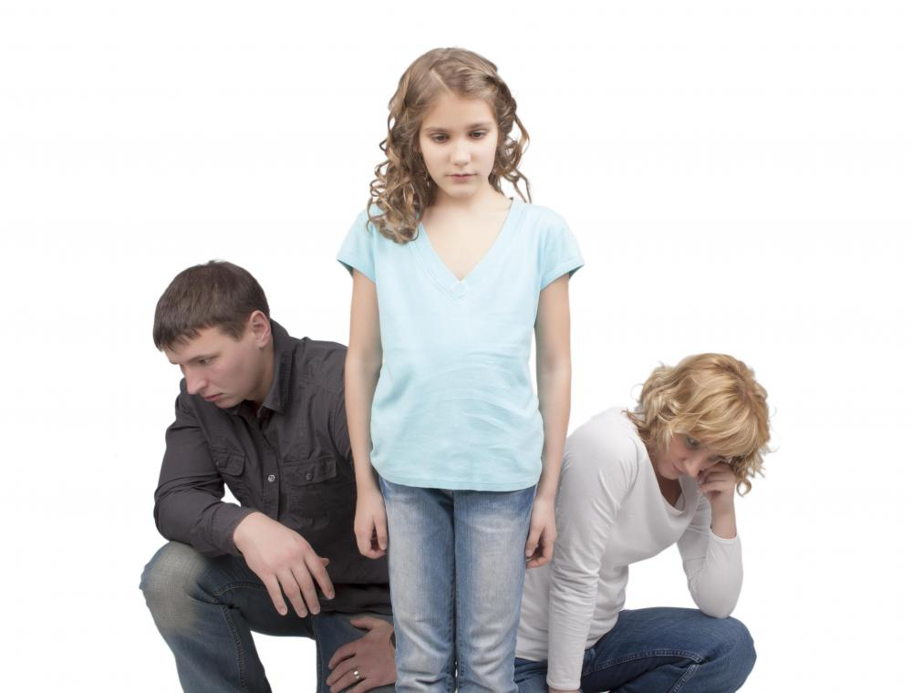 Divorce might cause a child to feel helpless or angry.