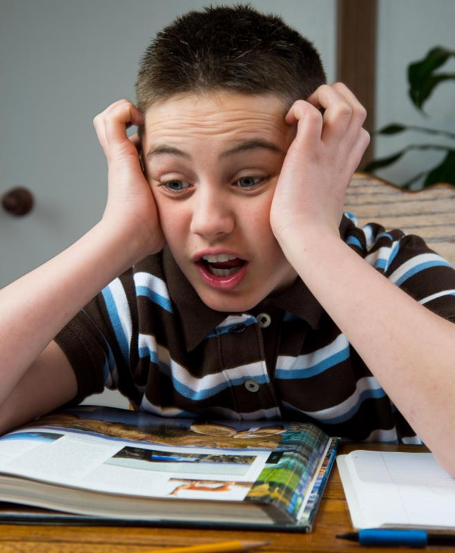 Learning disabilities may cause short attention spans and lead to frustration while completing school work.