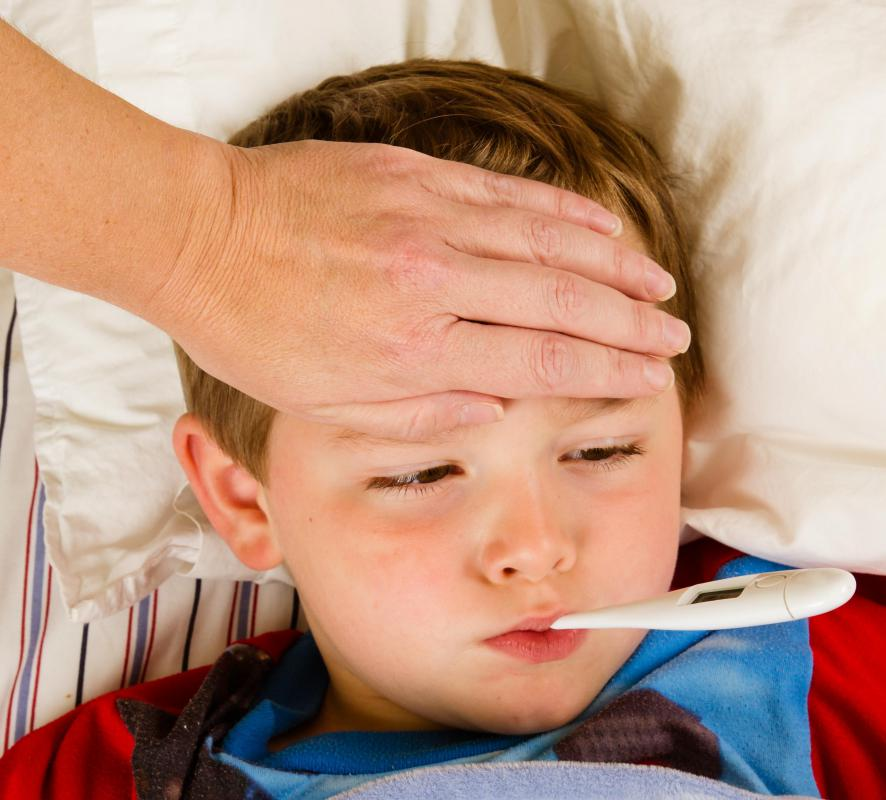 A fever may be present when a child has otitis media.