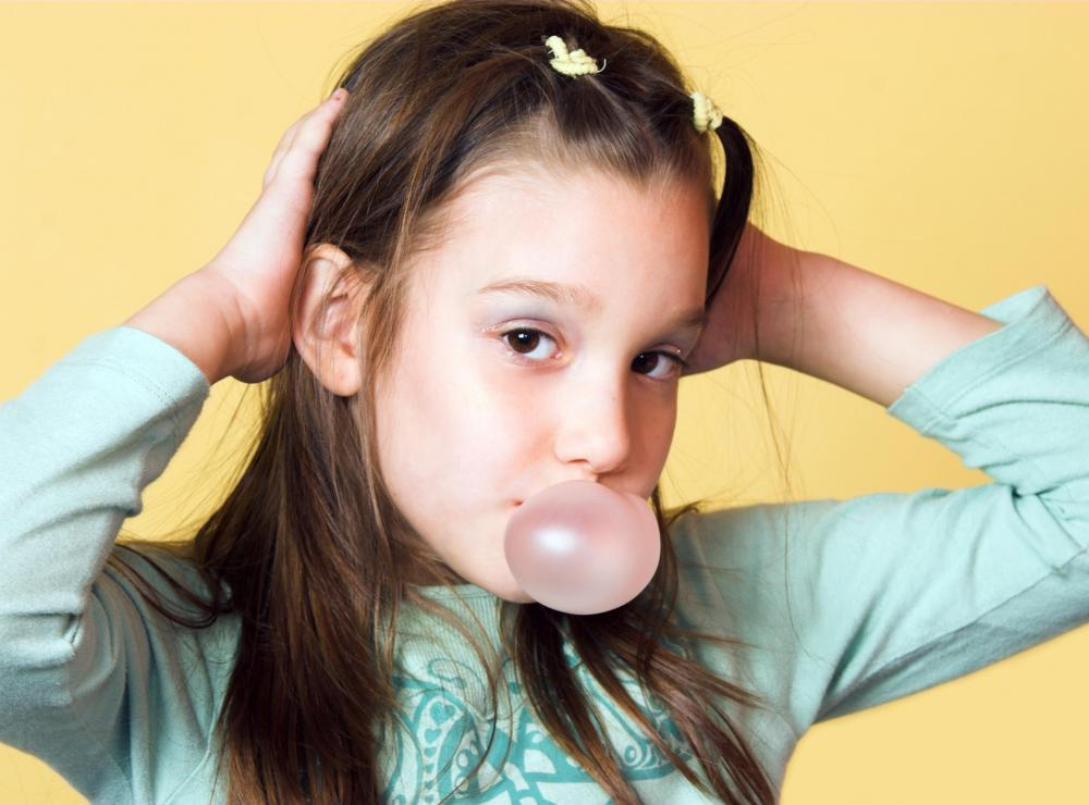 Bubble gum is specially formulated for blowing bubbles.