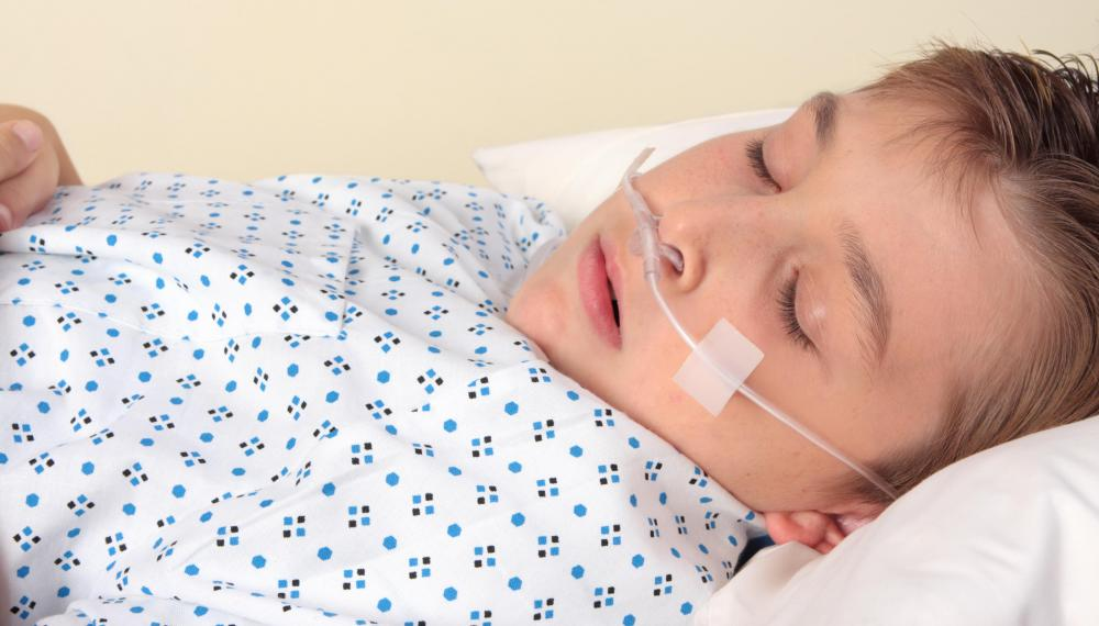 A nasal cannula may be used in lieu of a Venturi mask, but the oxygen concentration levels are often more difficult to determine.