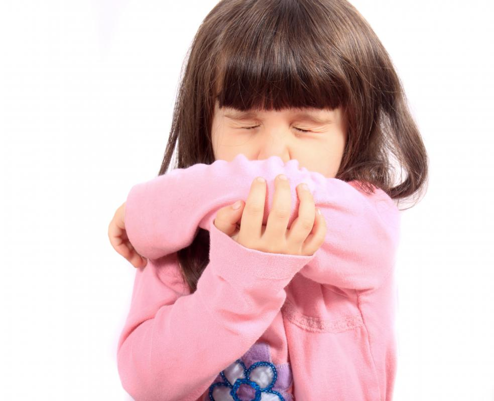 Sneezing or coughing into the bend of an elbow can help prevent the spread of germs.