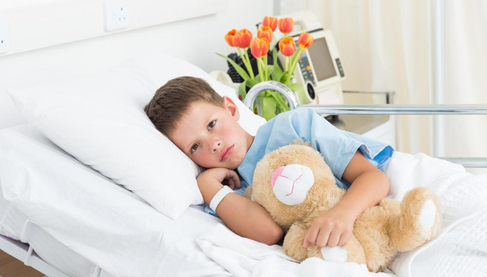 Some hospitals hire child psychologists who counsel hospitalized children and help them feel more at ease in a stressful hospital setting.