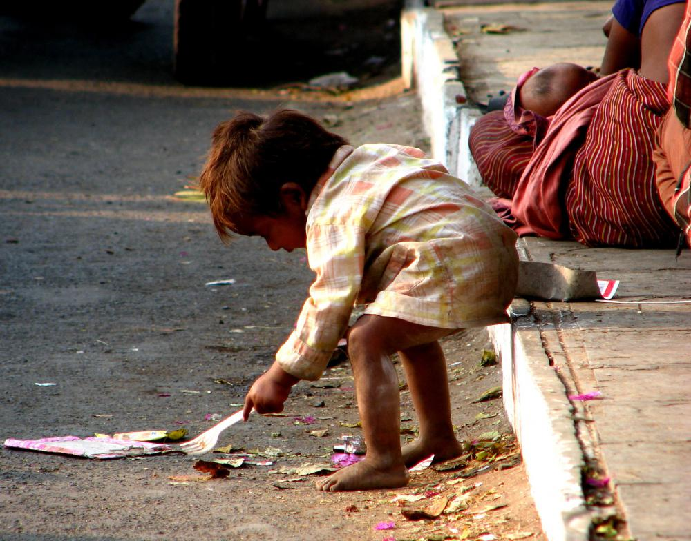 Poverty is a major factor in child labor, as it forces to children to get jobs to help their families.