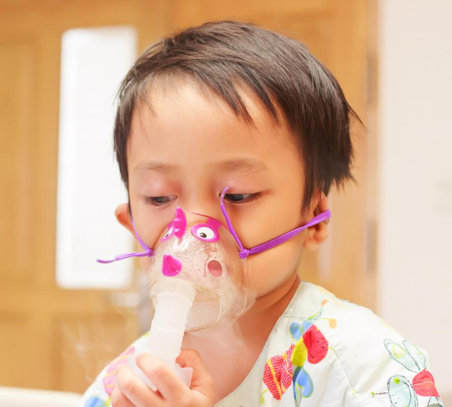A nebulizer mask may be used to treat a bronchial cough.