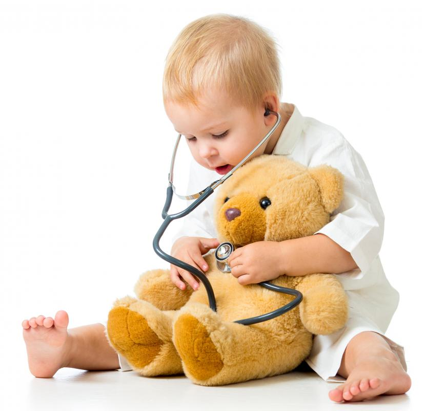 How a child interacts with his toys, such as a teddy bear, can help indicate whether he's ready for a pet.