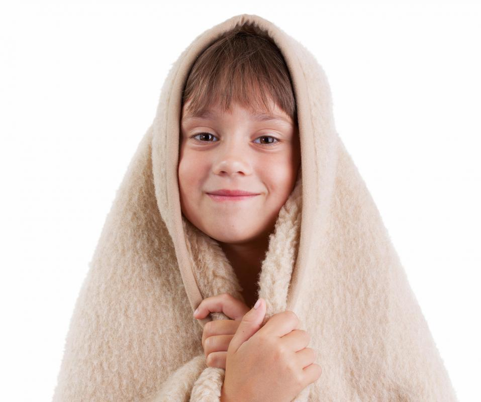 Fleece is a great material for blankets because of its excellent weight-to-insulation ratio.