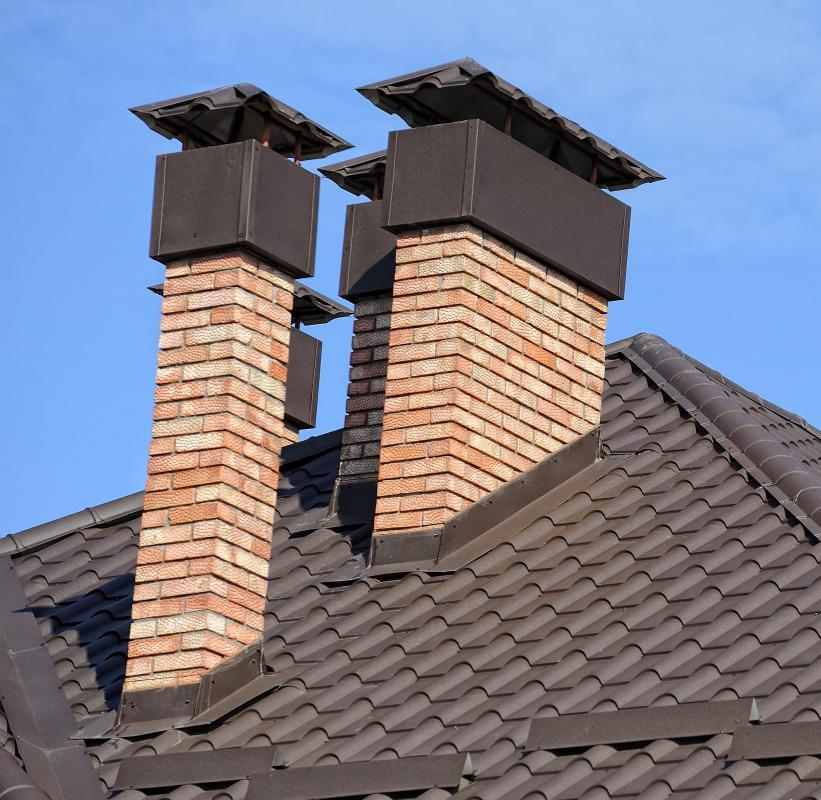 Roof flashing is sheet metal that prevents water from seeping into a home.